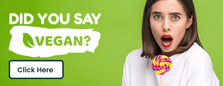 Did You Say Vegan Sweets Banner with button